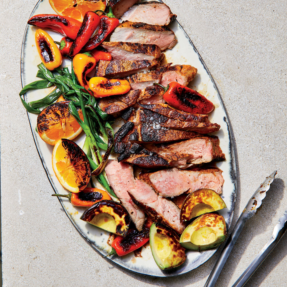 Mojo Pork Steak with Seared Avocados and Oranges