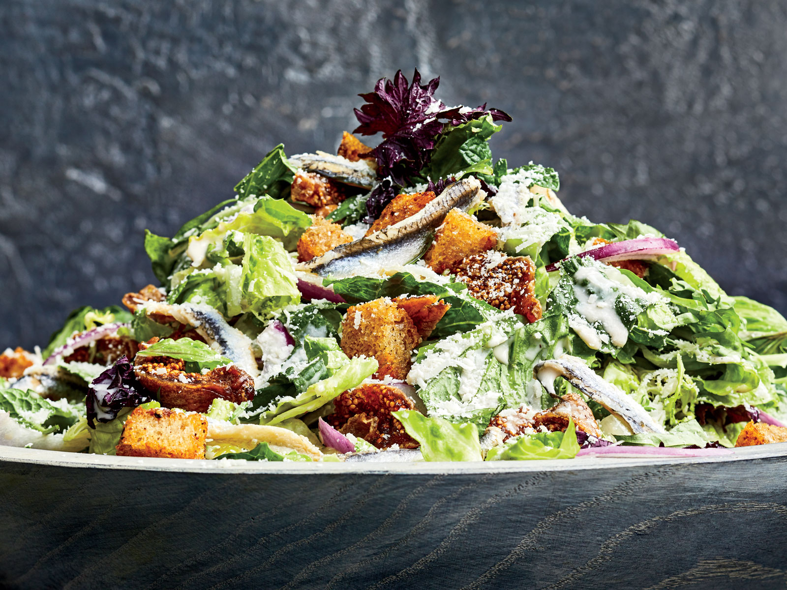 Vietnamese Caesar Salad with Anchovy Croutons