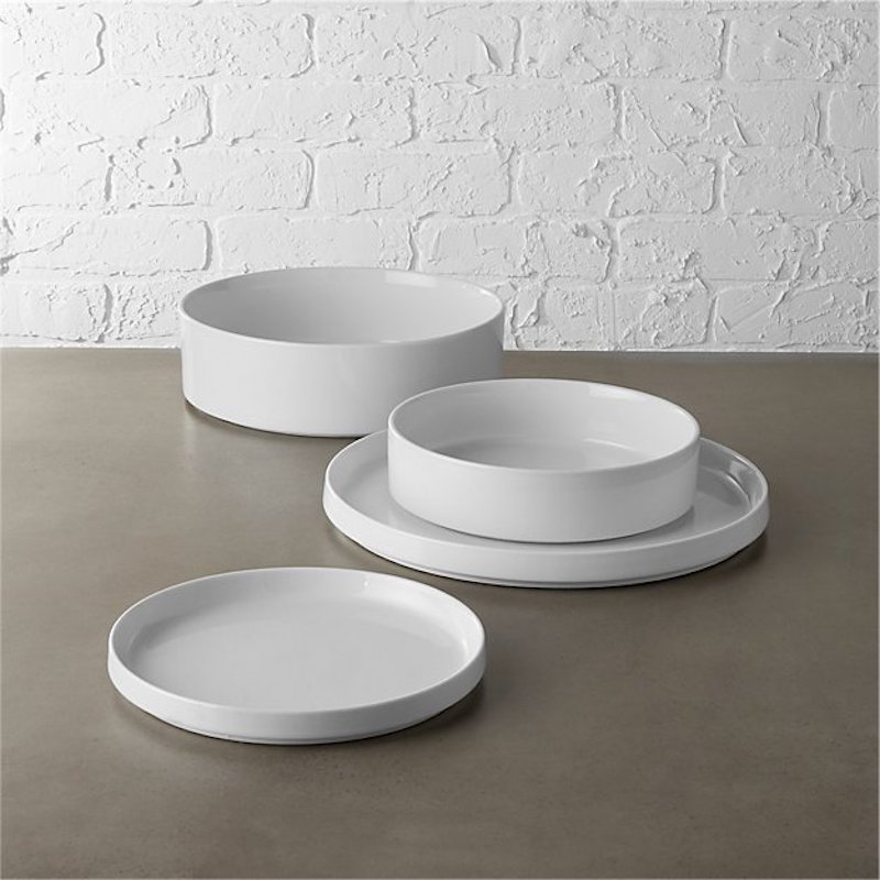 Best white dinnerware, CB2