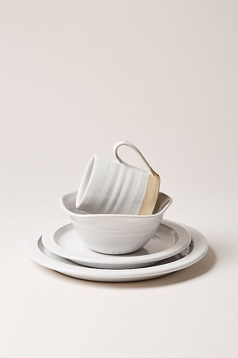 Modern Farmhouse white dinnerware plates
