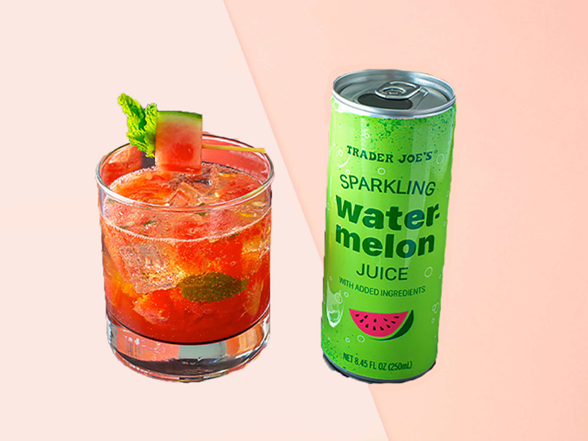 Trader Joe's Watermelon Juice Cocktail Is Peak Summer
