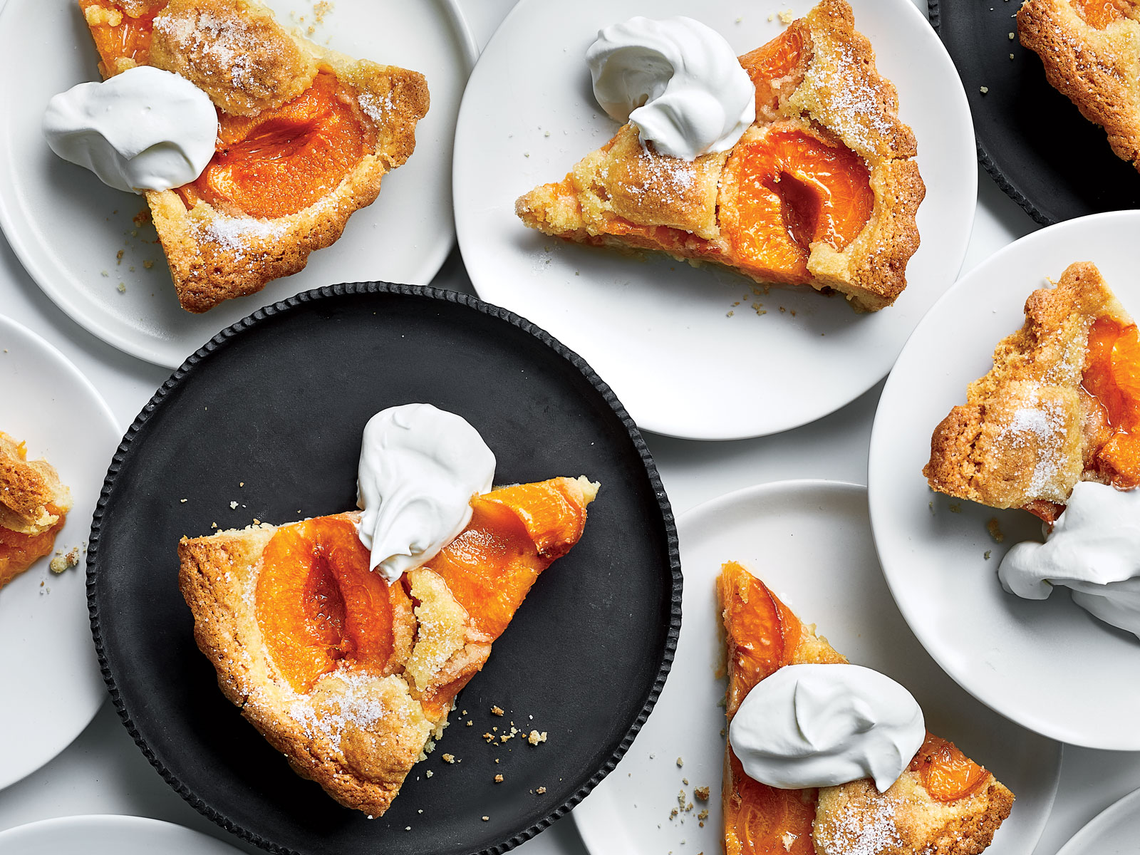 Apricot Kuchen with Labneh Whipped Cream