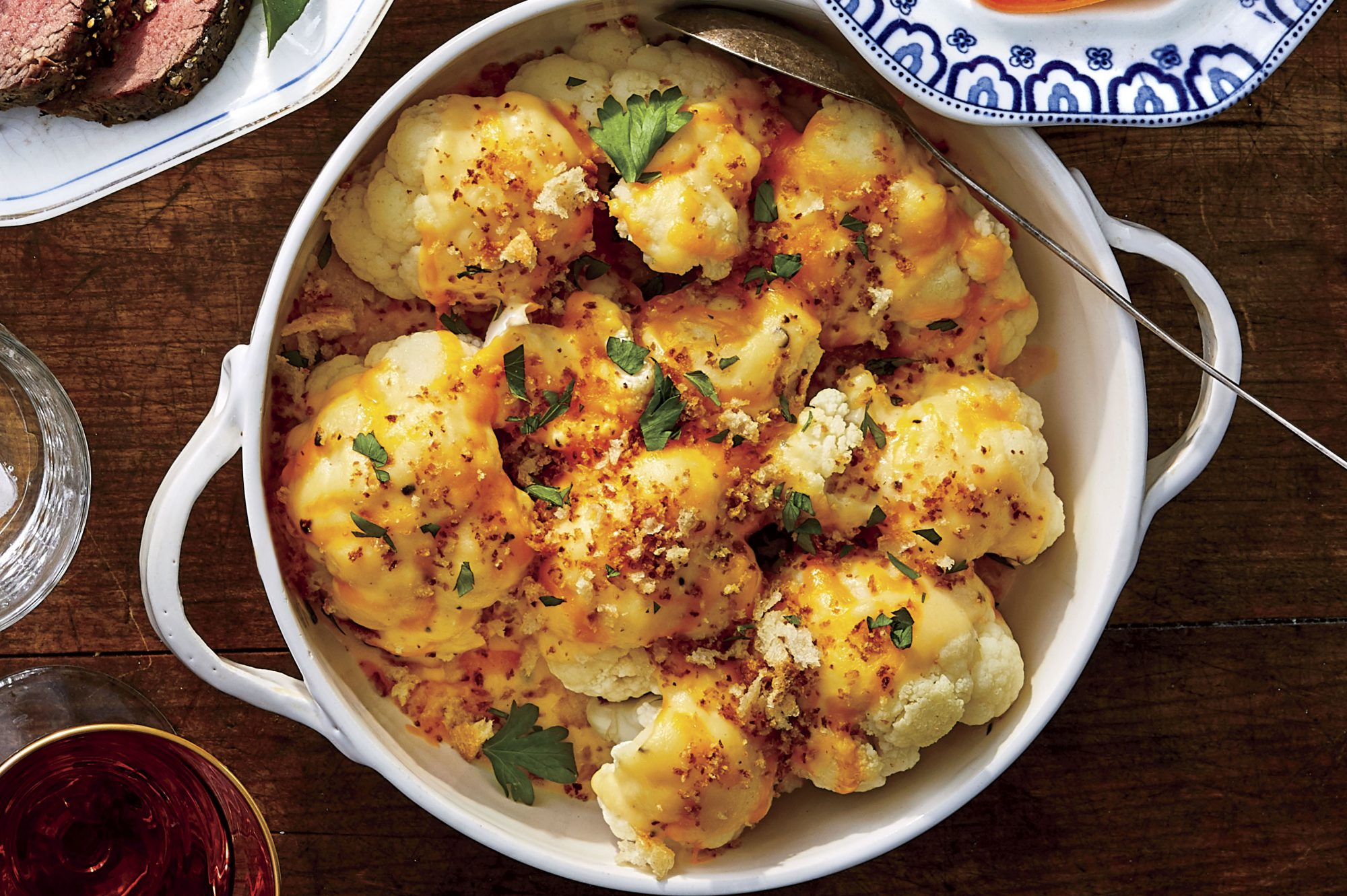 Cheese Sauce over Cauliflower