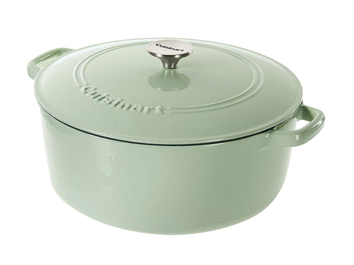 Cuisinart Cast Iron Casserole, Mint Green, 7 Quart