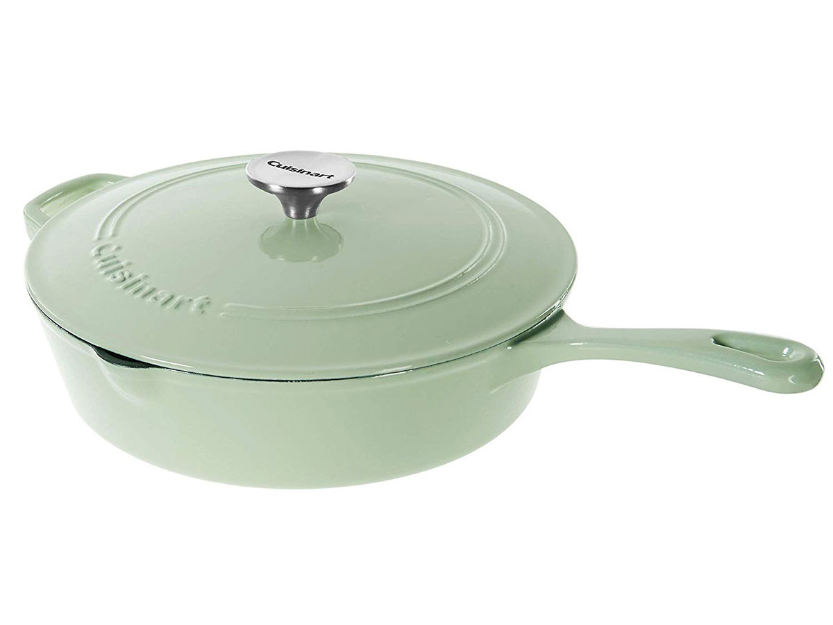 Cuisinart Cast Iron Chicken Fryer, Mint Green, 12