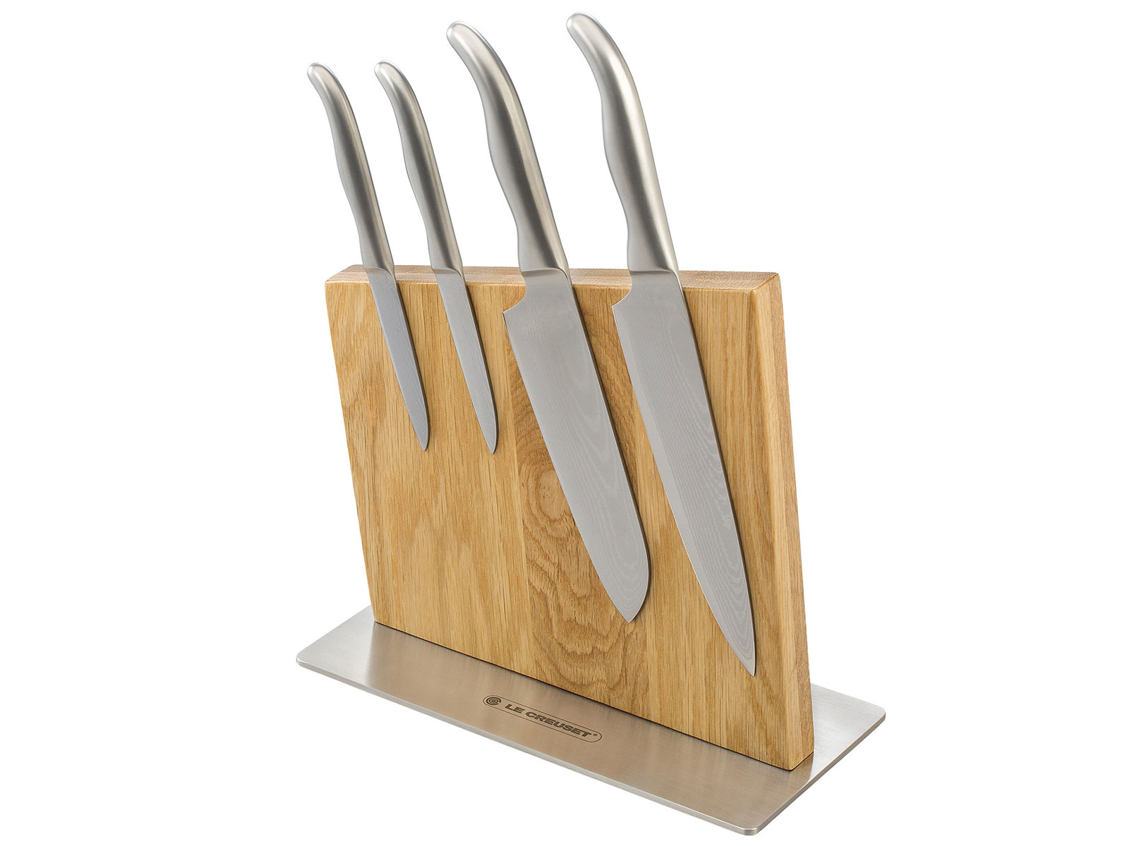le creuset knife block