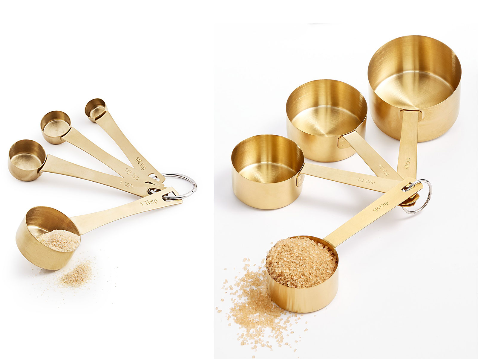 gold measuring cups