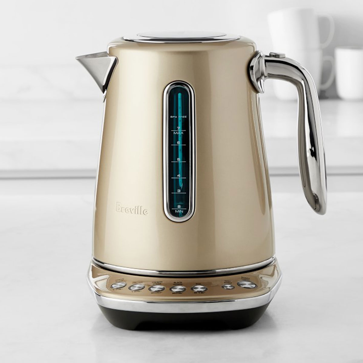 breville smart kettle in champagne