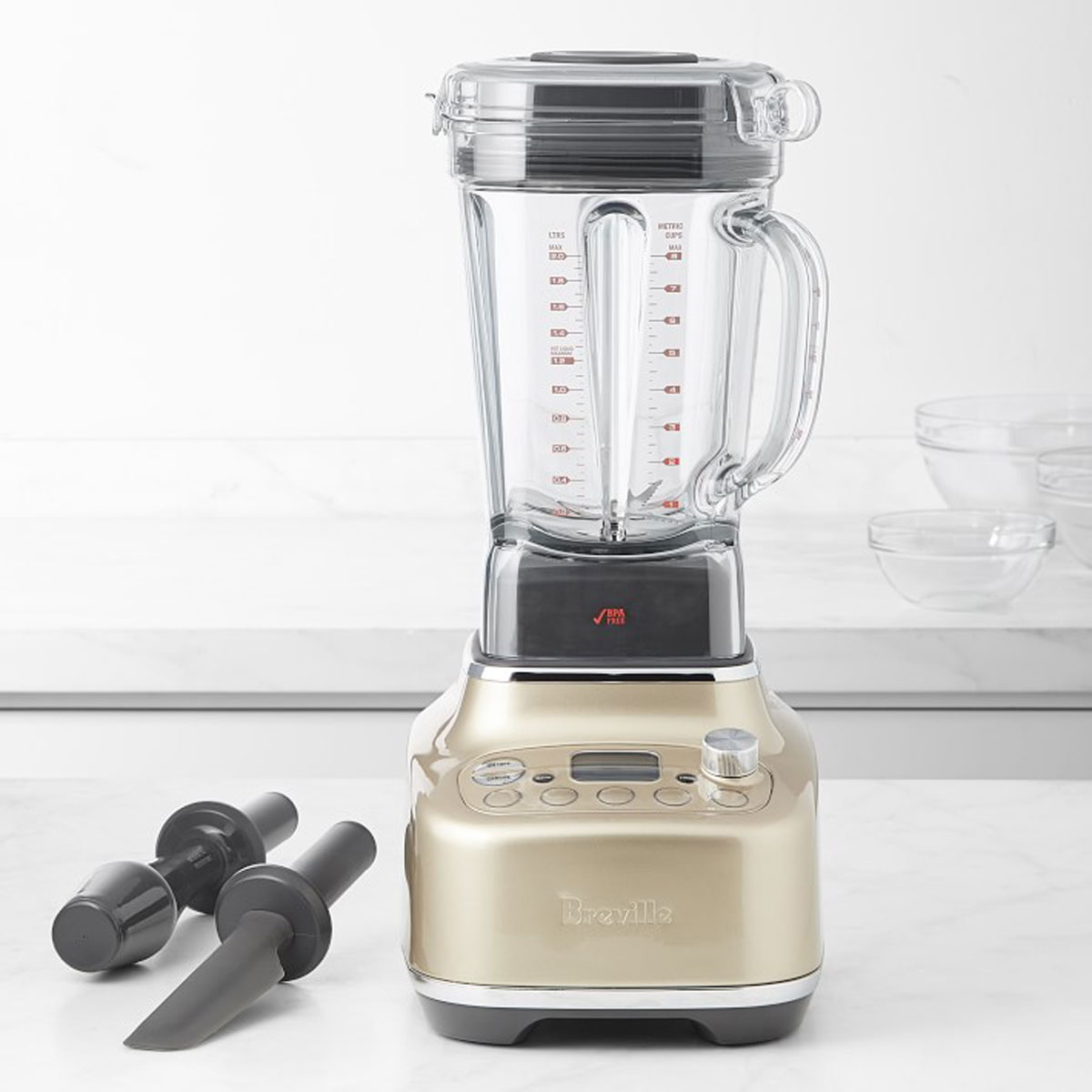 breville super q blender in champagne