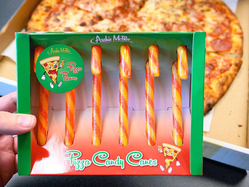 Pizza Candy Canes Are Coming for You This Holiday Season