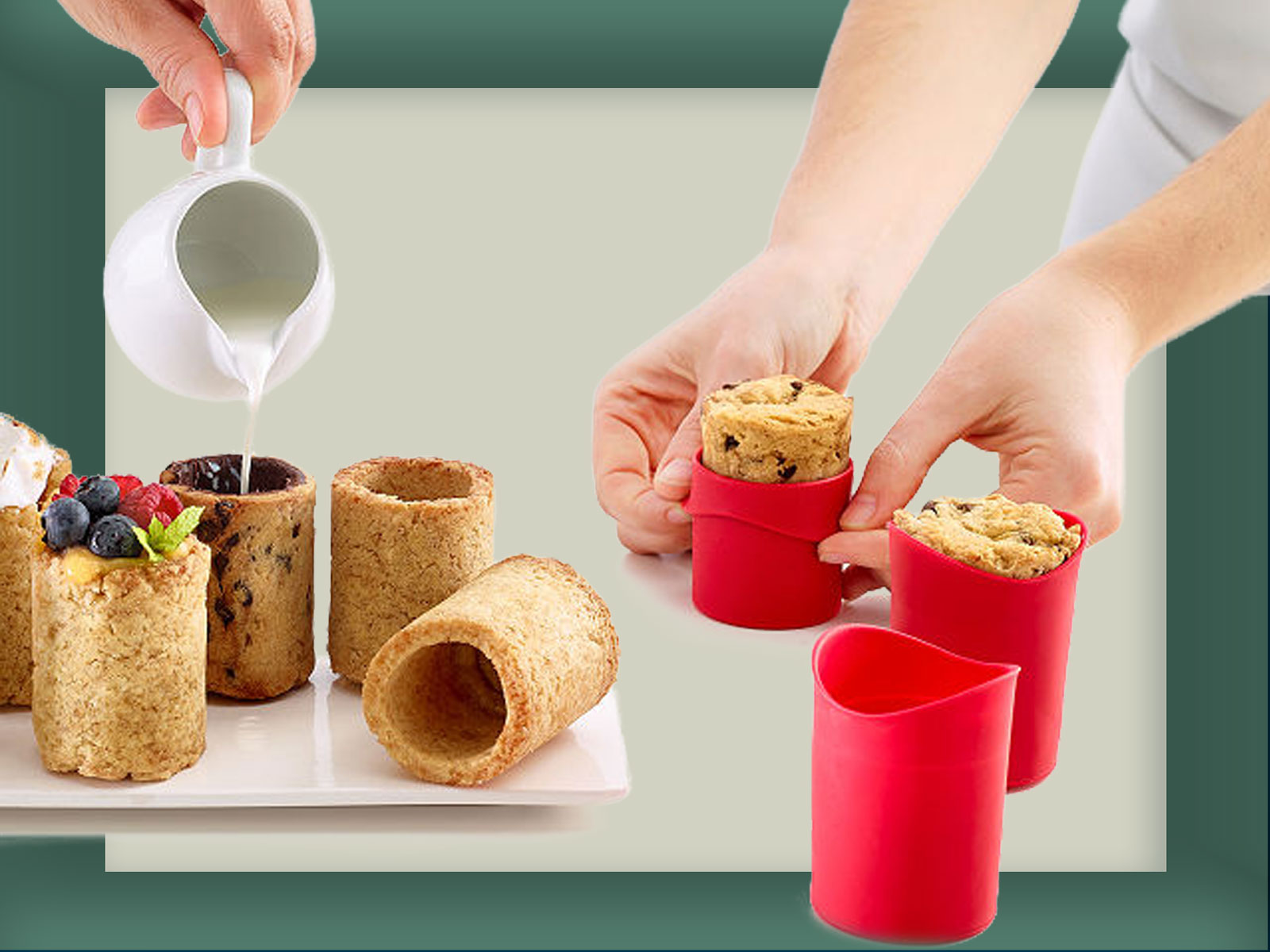 UncommonGoods Cookie Shot Glasses