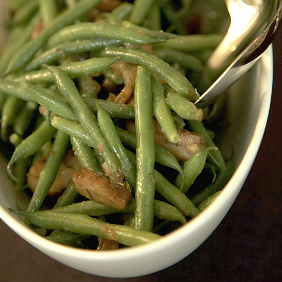 Haricots Verts and Chestnuts with Date Vinaigrette