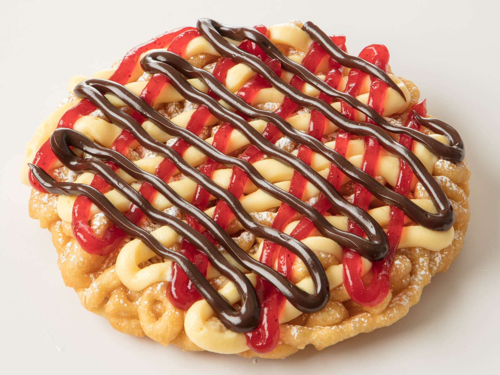 Silver Dollar City Strawberry Chocolate Cheesecake Funnel Cake
