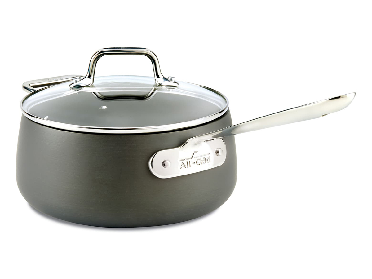 HA1 Hard Anodized 3.5-Quart Nonstick Saucepan with Lid