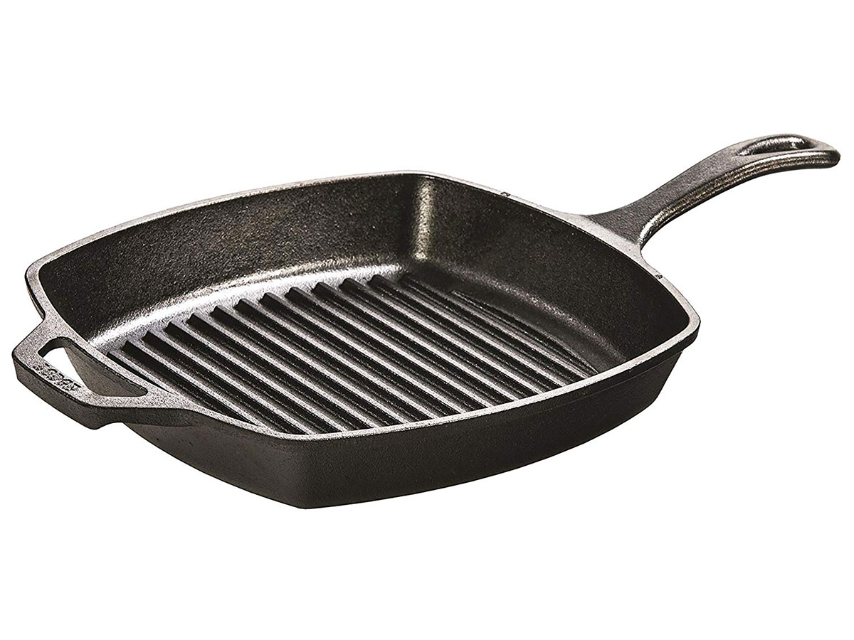 Lodge 10.5 Inch Square Cast Iron Grill Pan