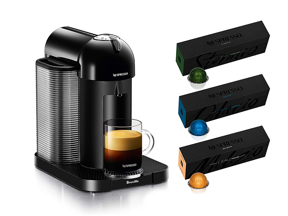 Nespresso Vertuo Coffee and Espresso Maker by Breville with BEST SELLING COFFEES INCLUDED