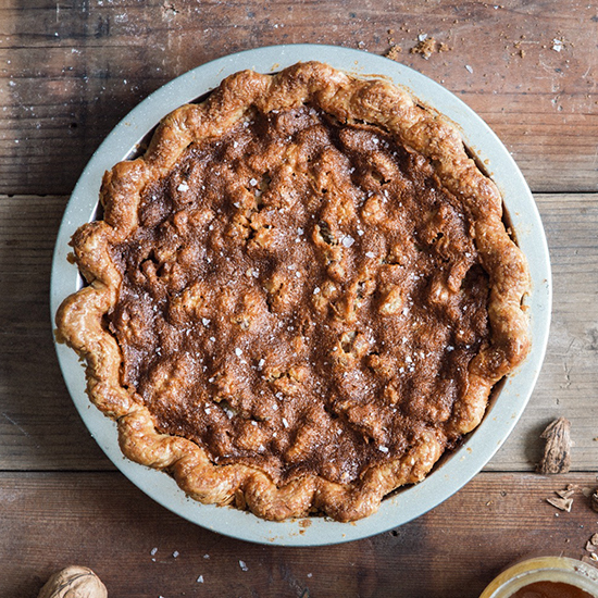 Salty Honey Walnut Pie; Three Babes Bakeshop