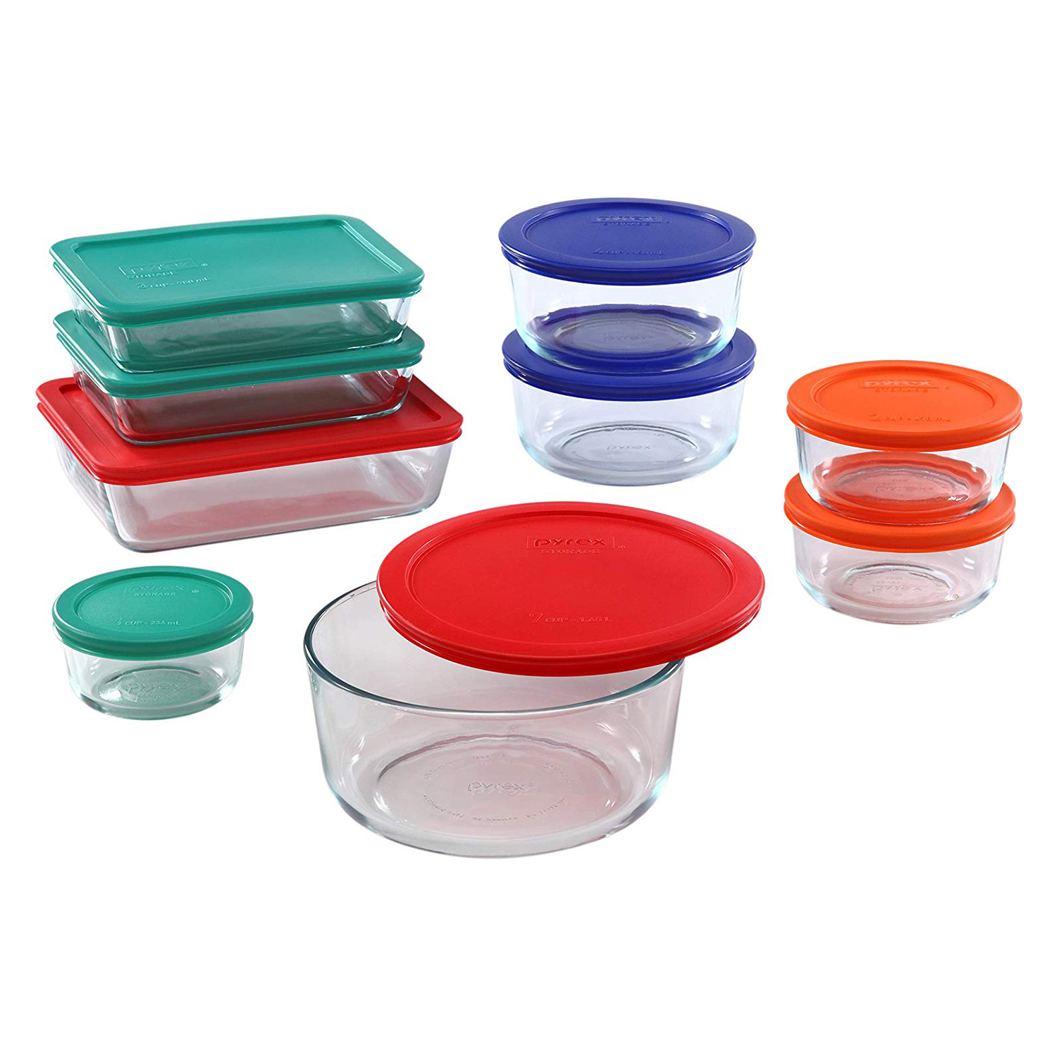 Pyrex Meal Prep Glass Food Container 18-Piece Set