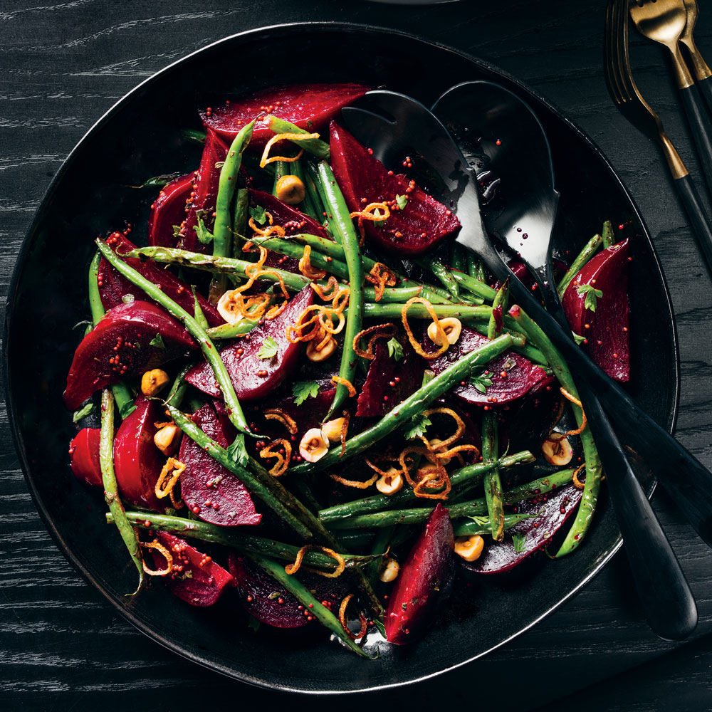 Roasted Beets and Charred Green Beans