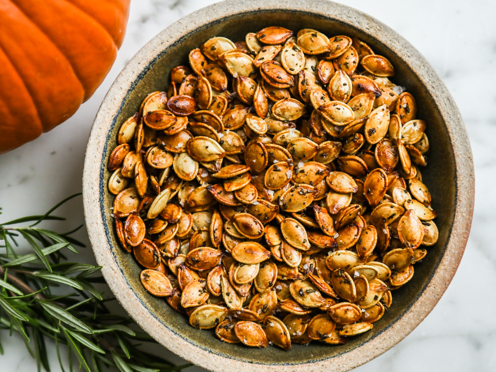 Rosemary-Brown Sugar Pumpkin Seeds