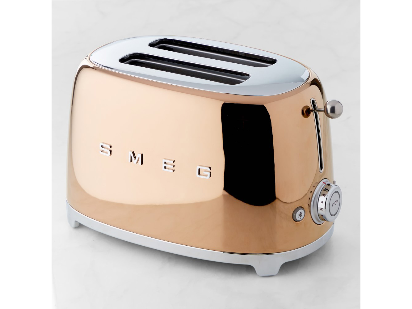 SMEG Rose Gold 2-Slice Toaster