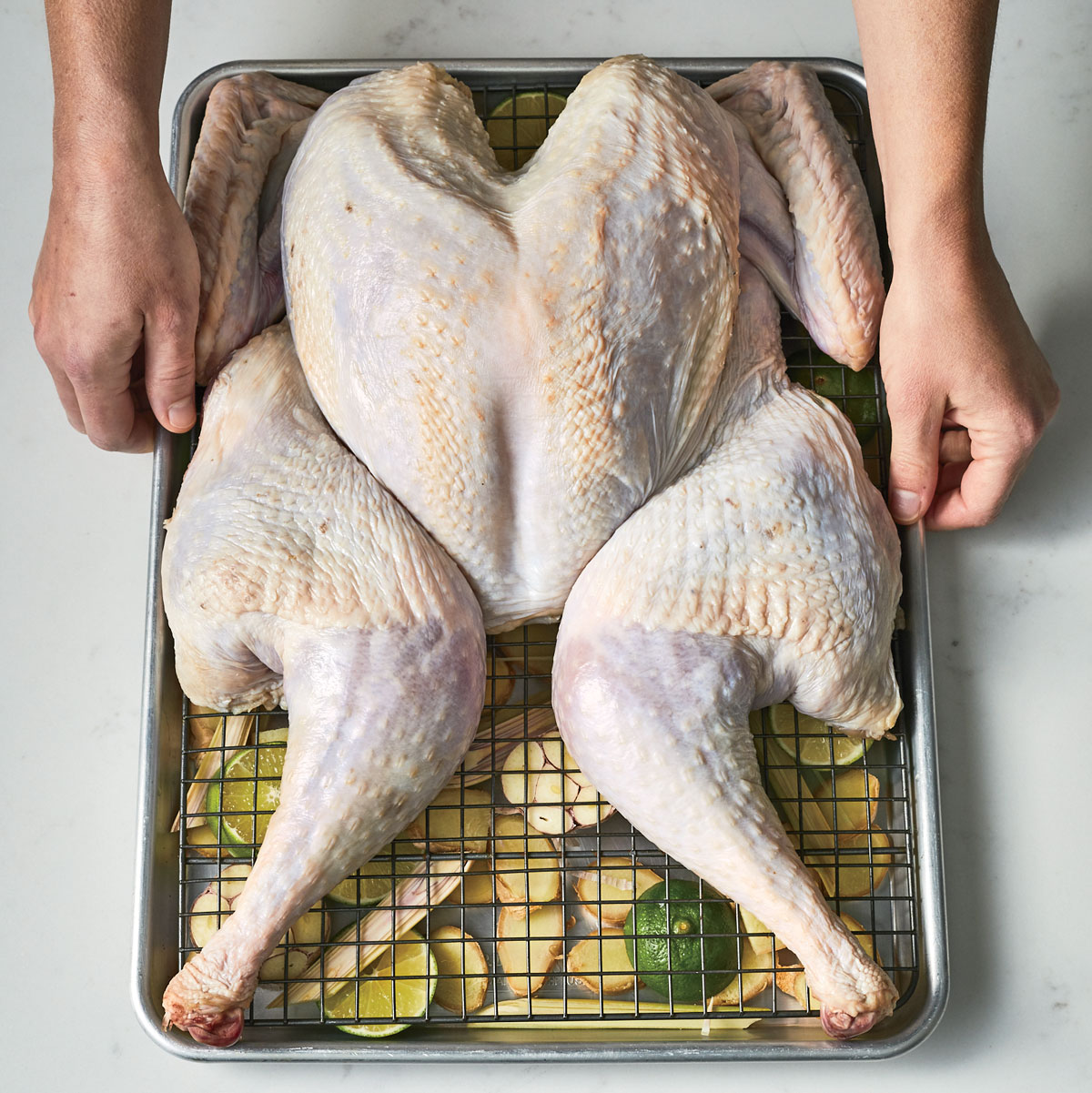 Spatchcock Turkey Technique Prepare Aromatics