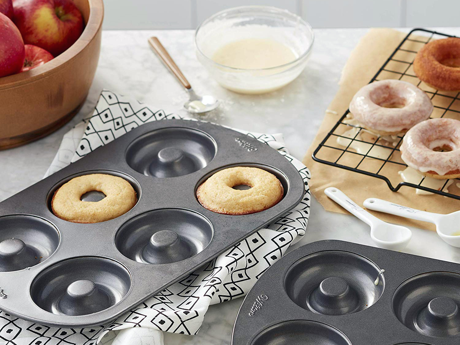 Wilton Non-Stick 6-Cavity Donut Baking Pans