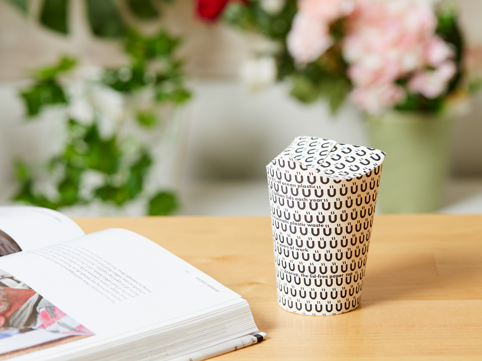 Unocup Paper Cup with No Plastic Lid