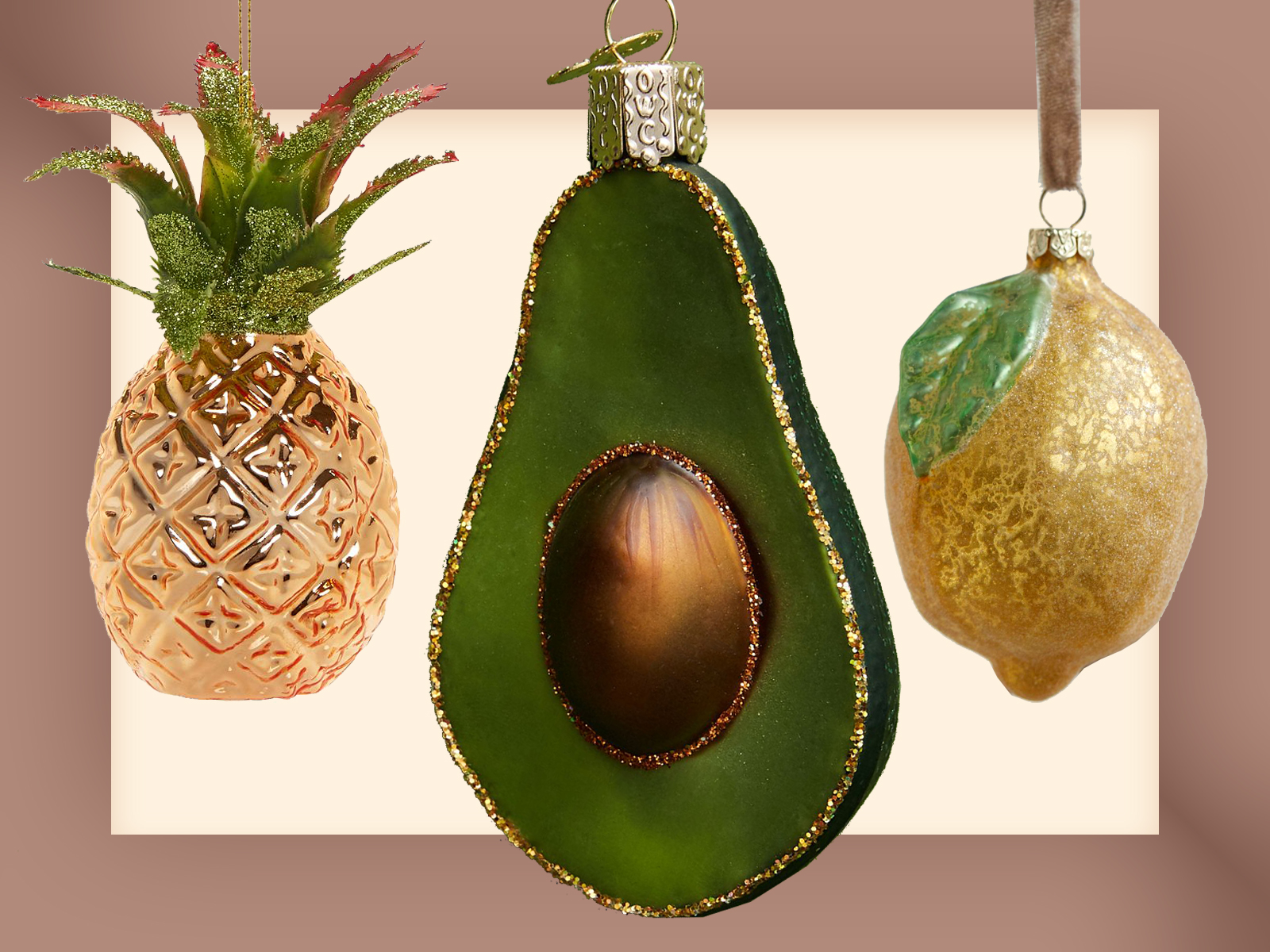Food Ornaments Fruits and Vegetables