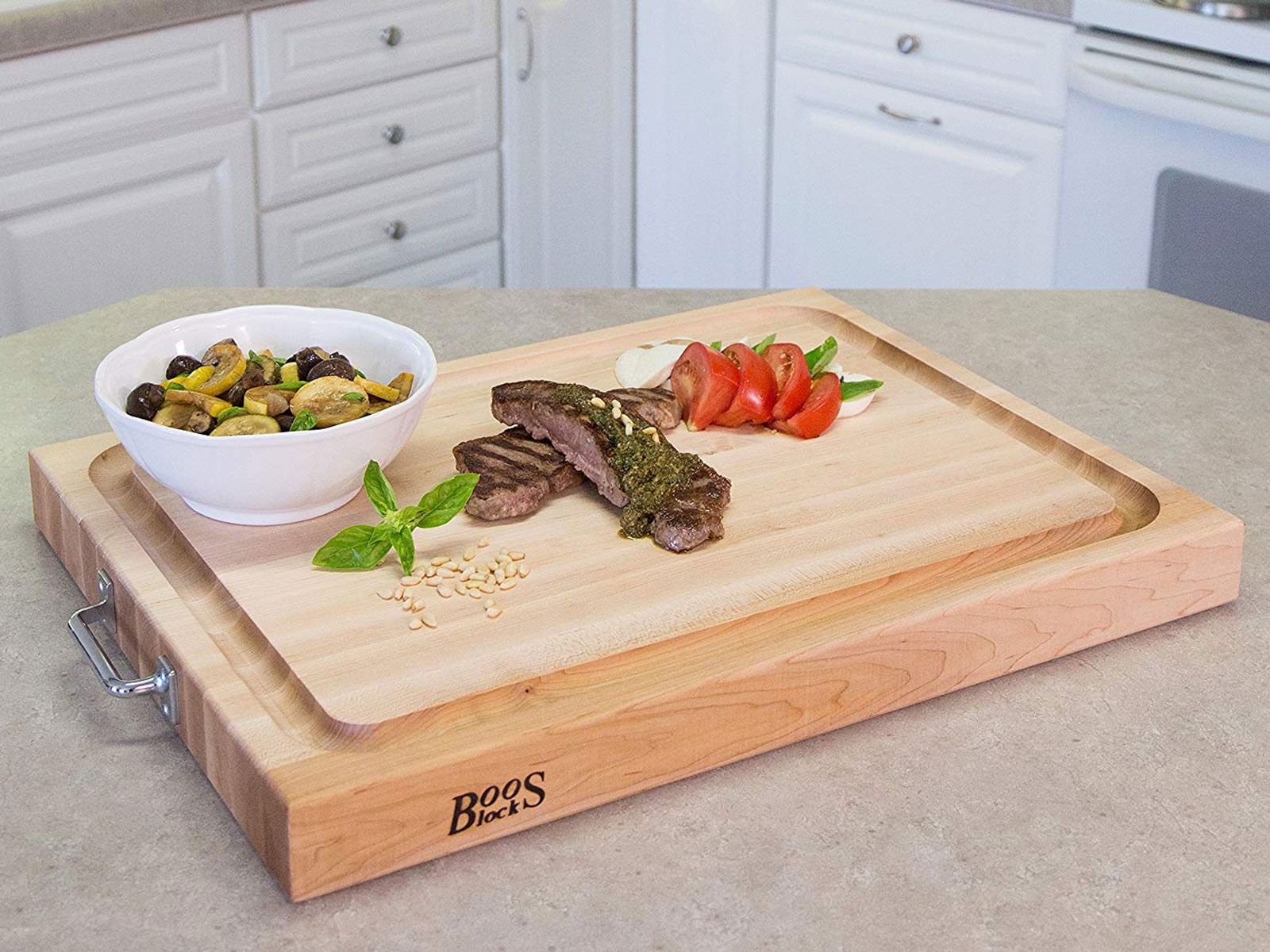 maple boos black cutting board