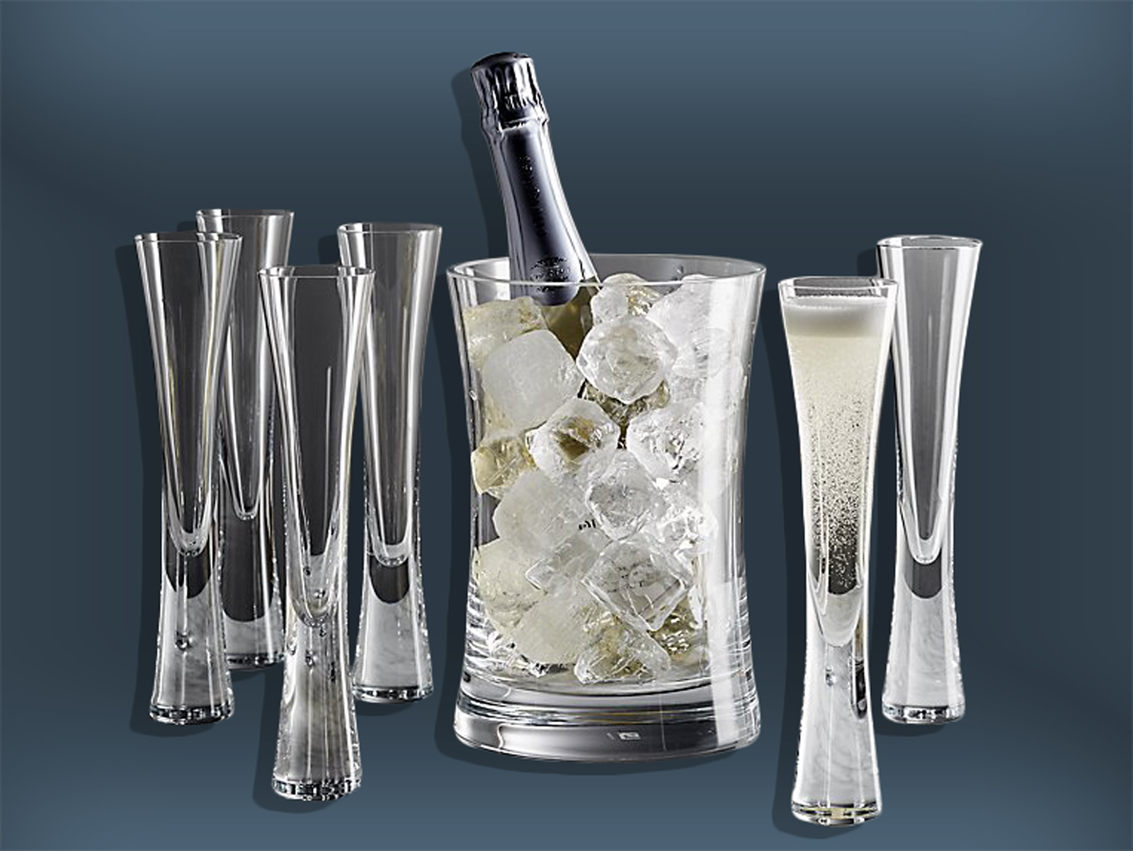Crate & Barrel Toasting Glasses Set
