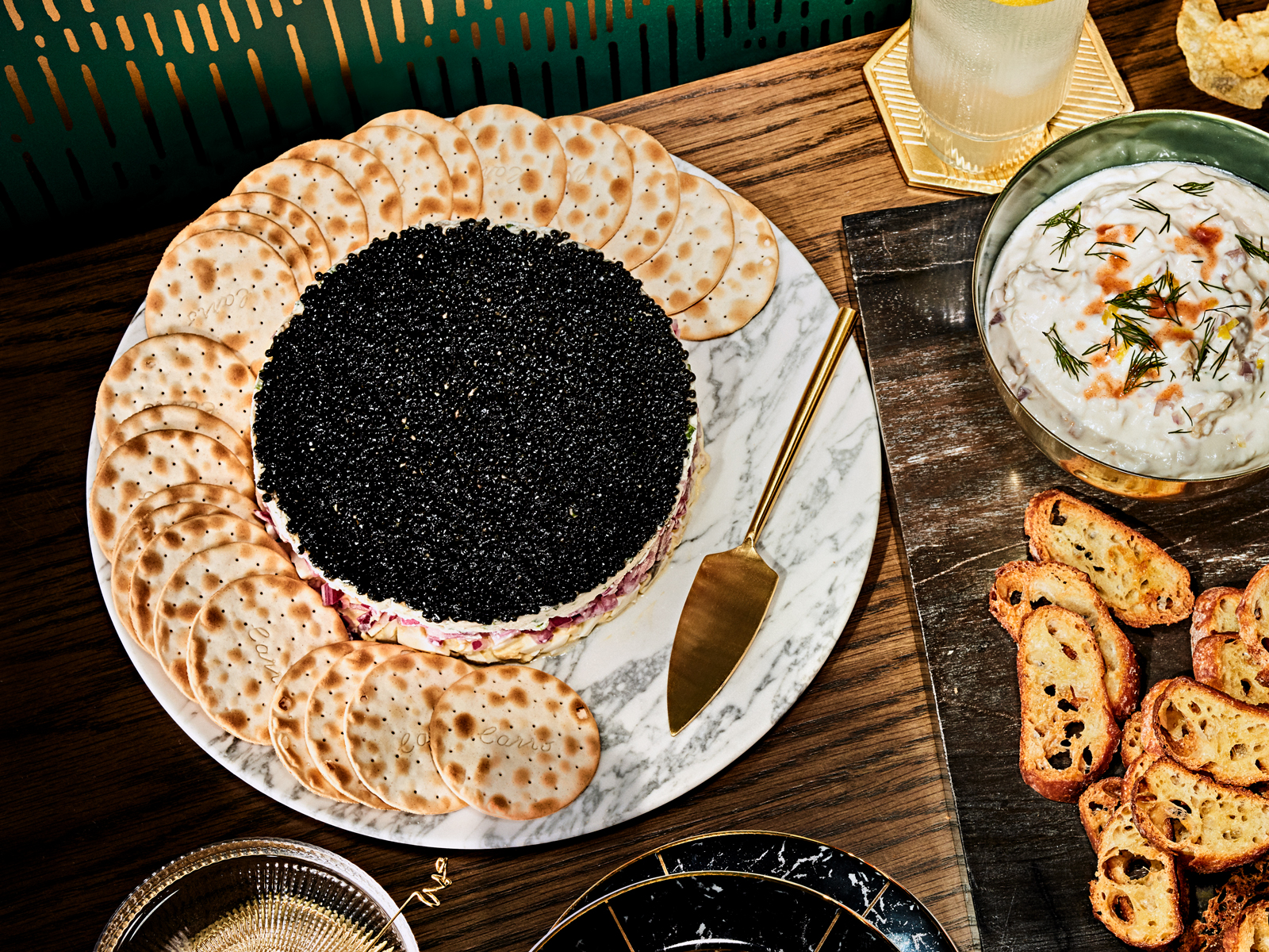 Four-Layer Caviar Dip