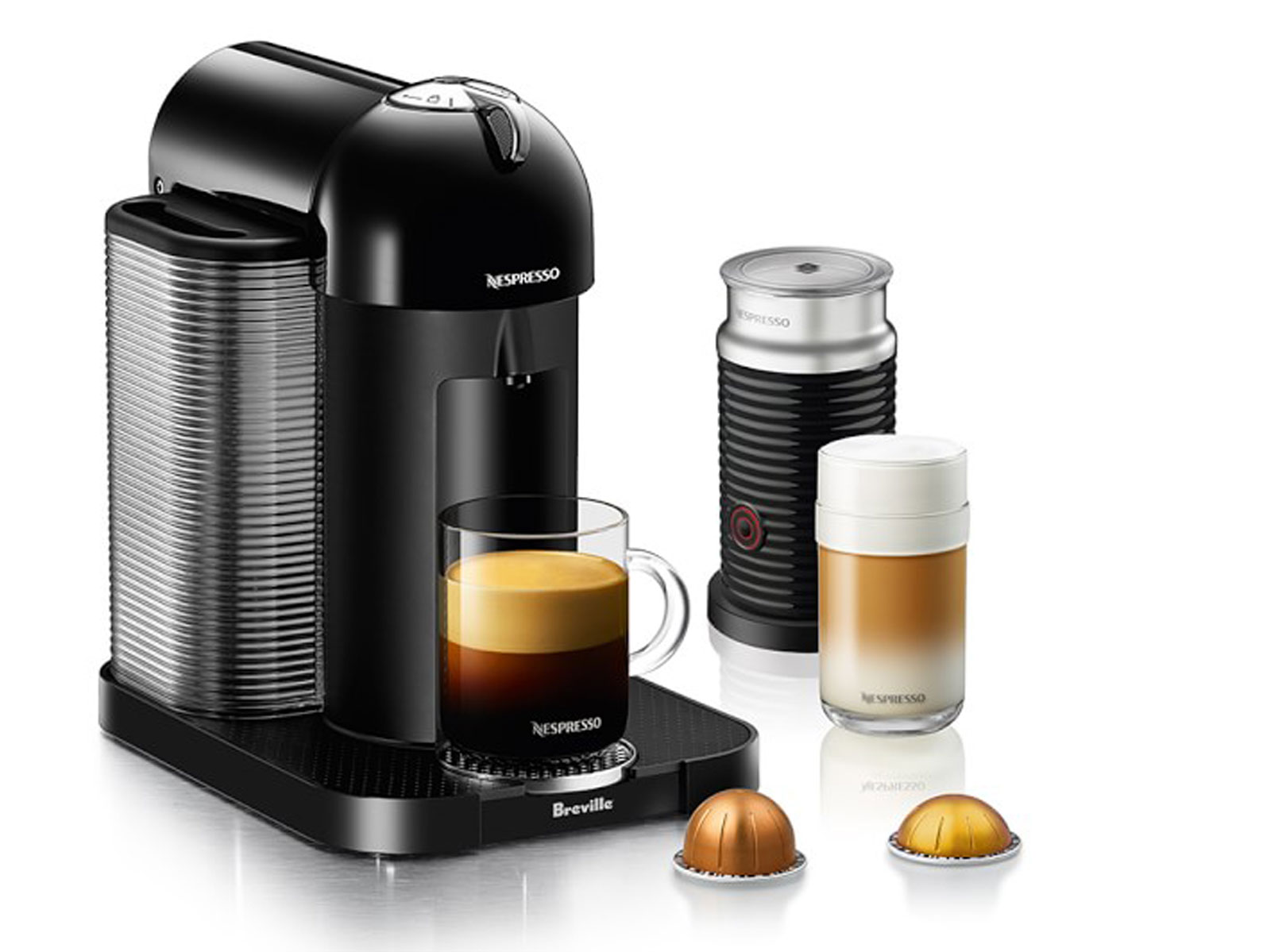 Nespresso Vertuo Coffee Maker & Espresso Machine by Breville with Aeroccino