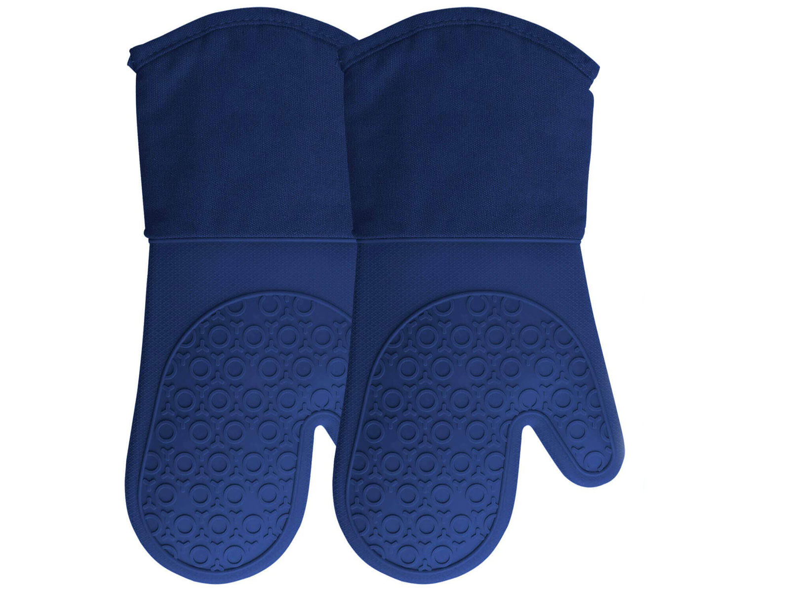 blue oven mitts