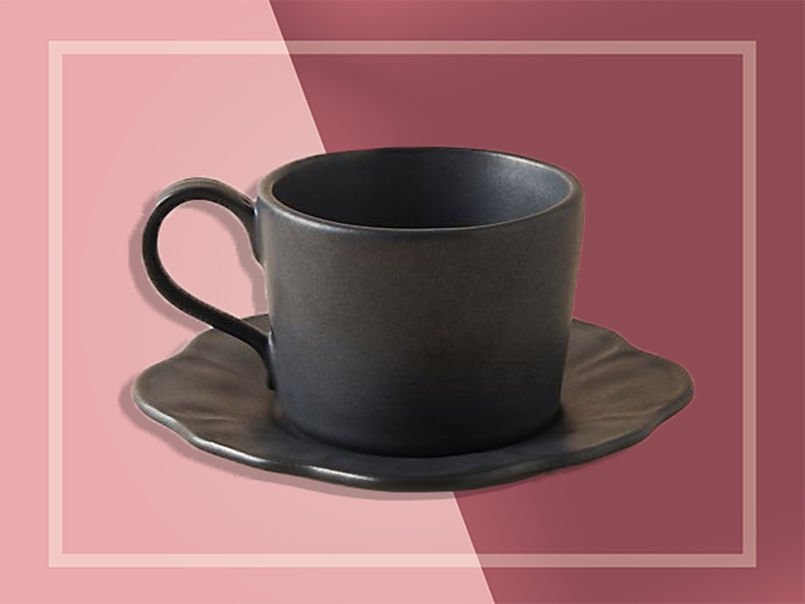 Anthropologie black tea cup