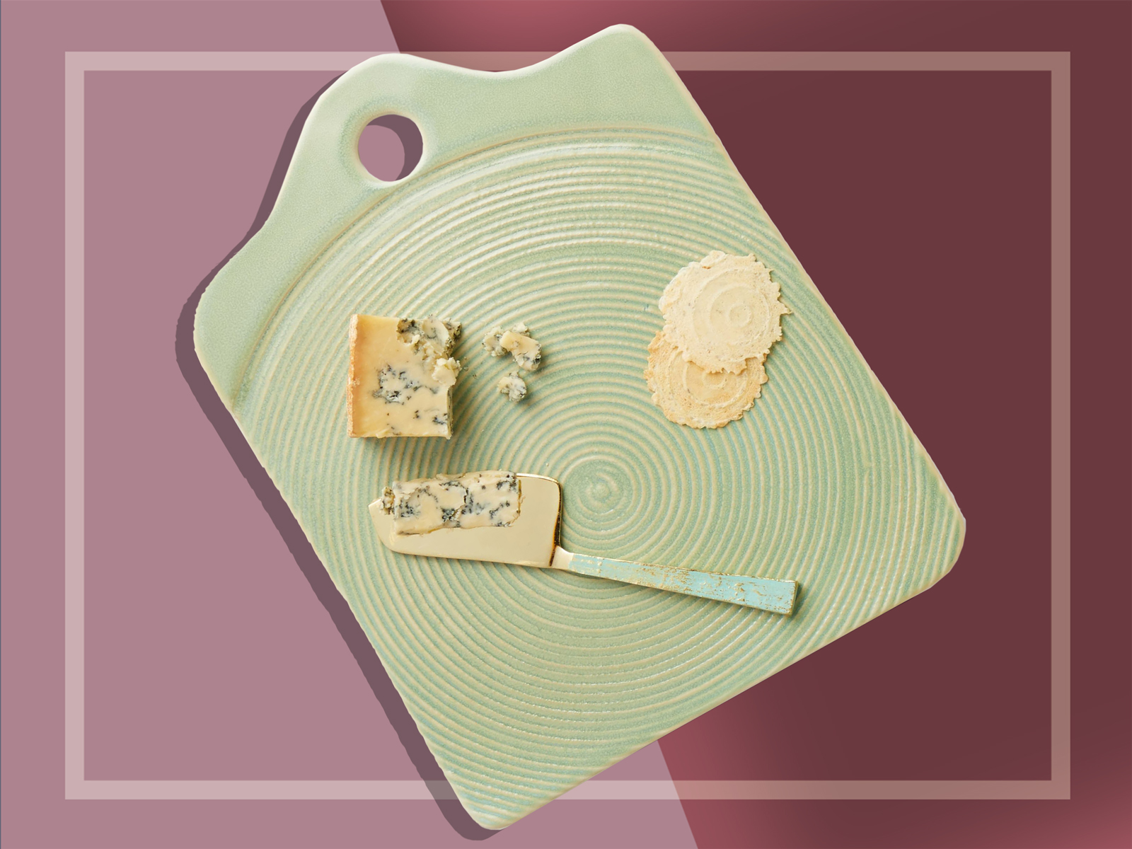Stoneware swirl cheese board