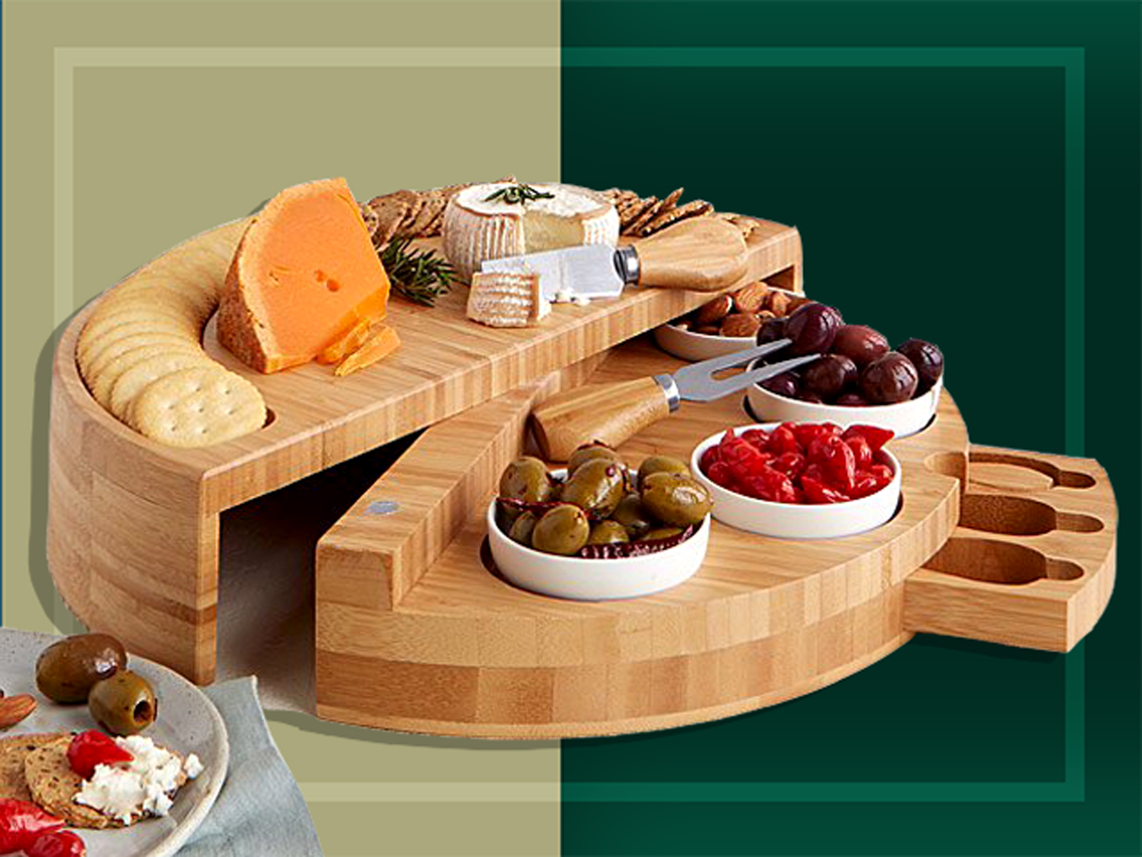 swivel cheese board