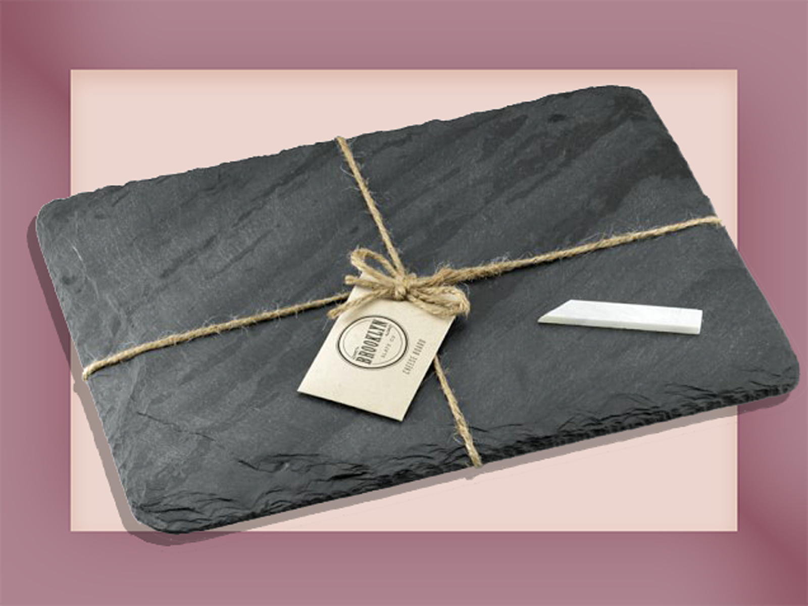 slate cheese board with chalk