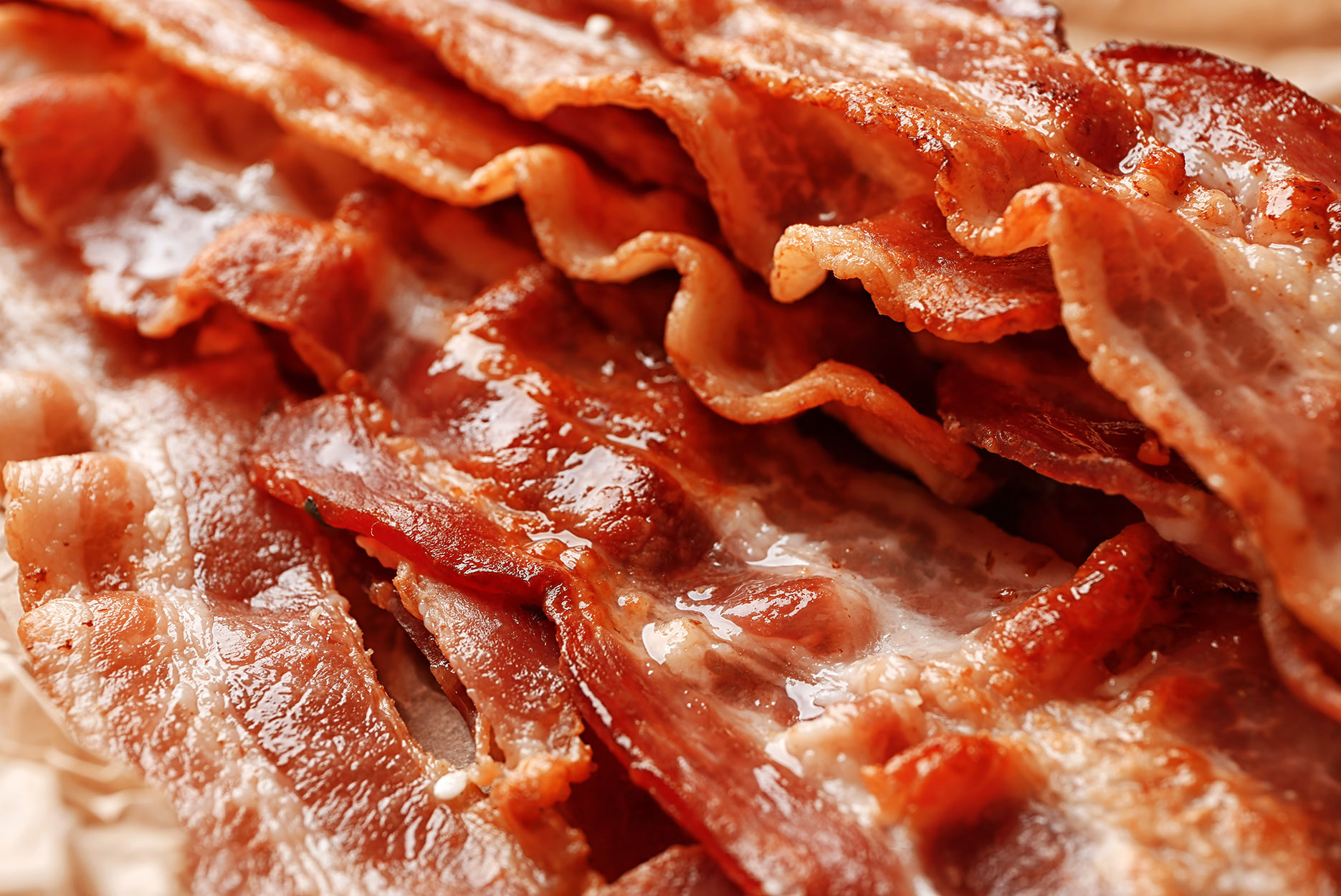 A pile of bacon