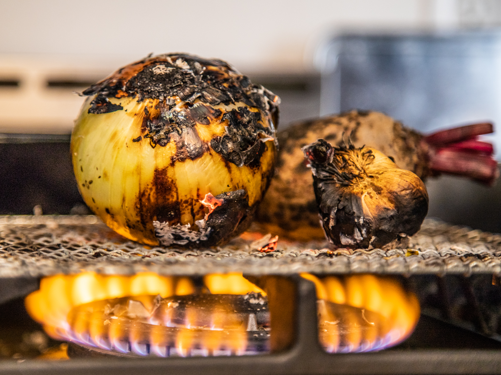 Charred Stovetop Vegetables