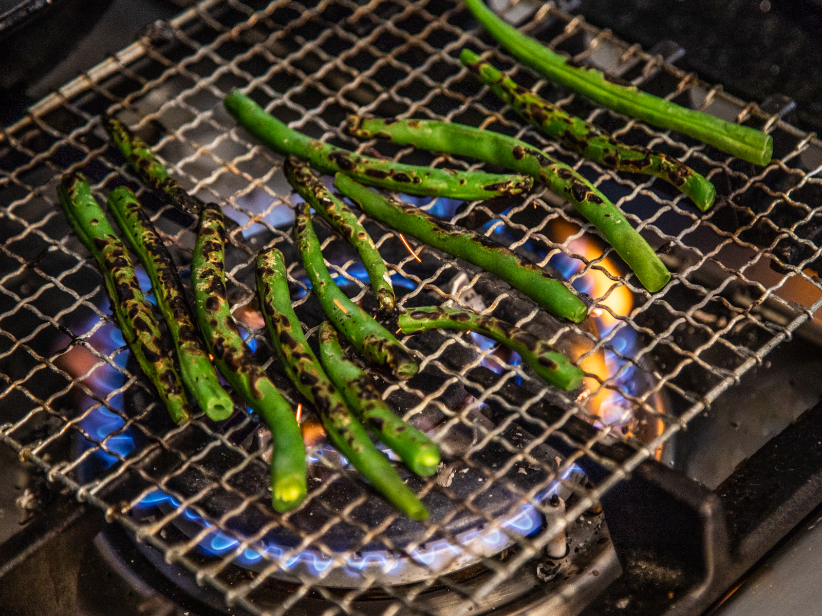 Charred Stovetop Green Beans