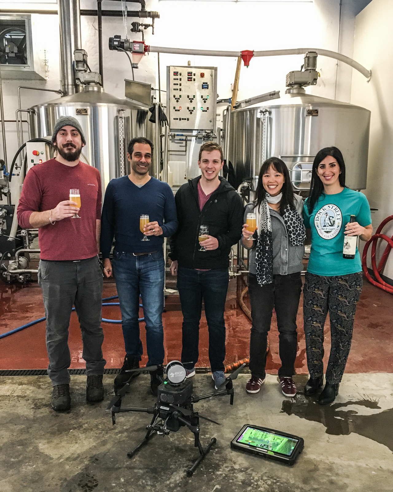Exyn Drone Brewing Beer