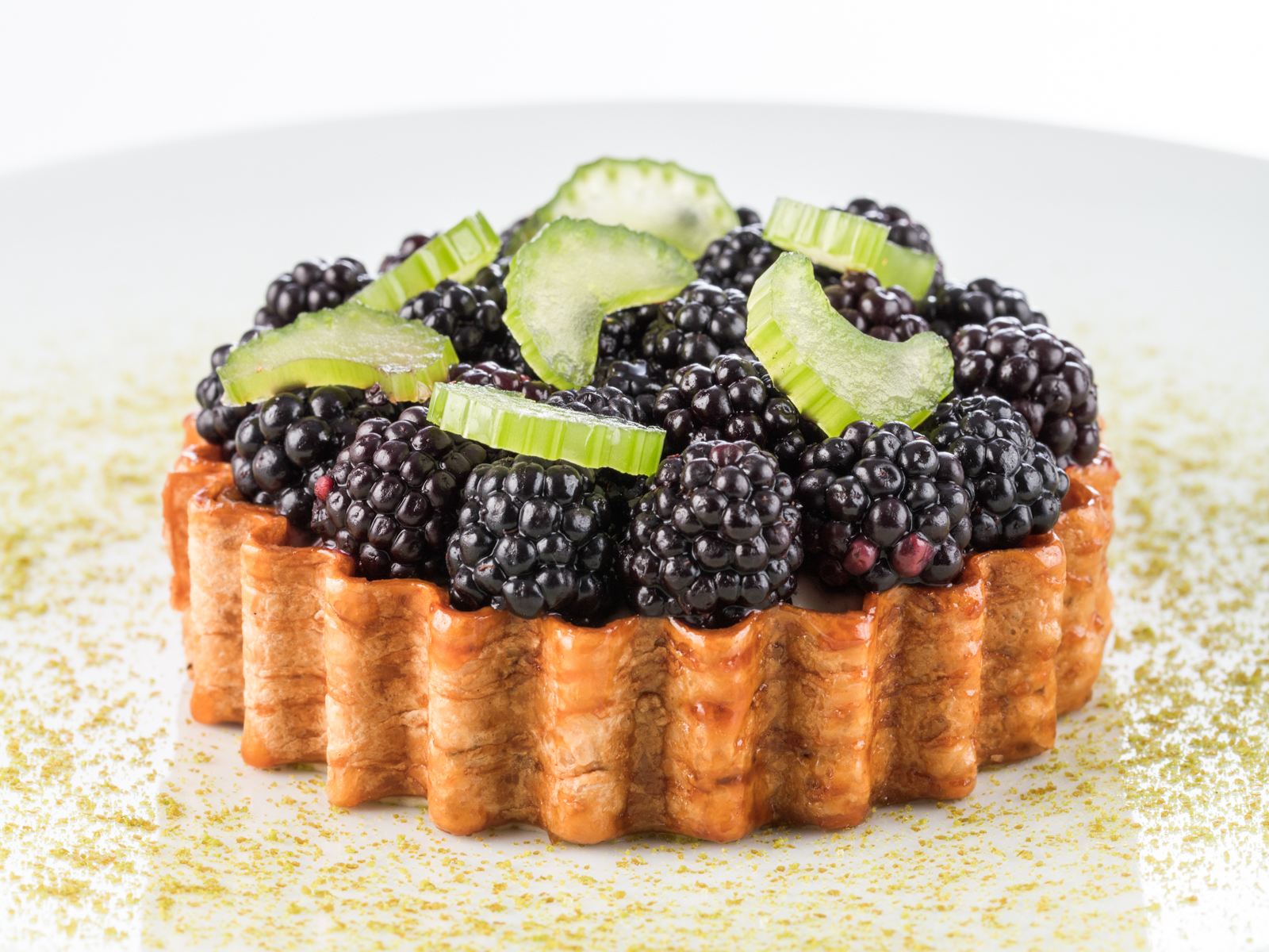 Francois Perret Ritz Paris Wild Blackberry Tart with Celery