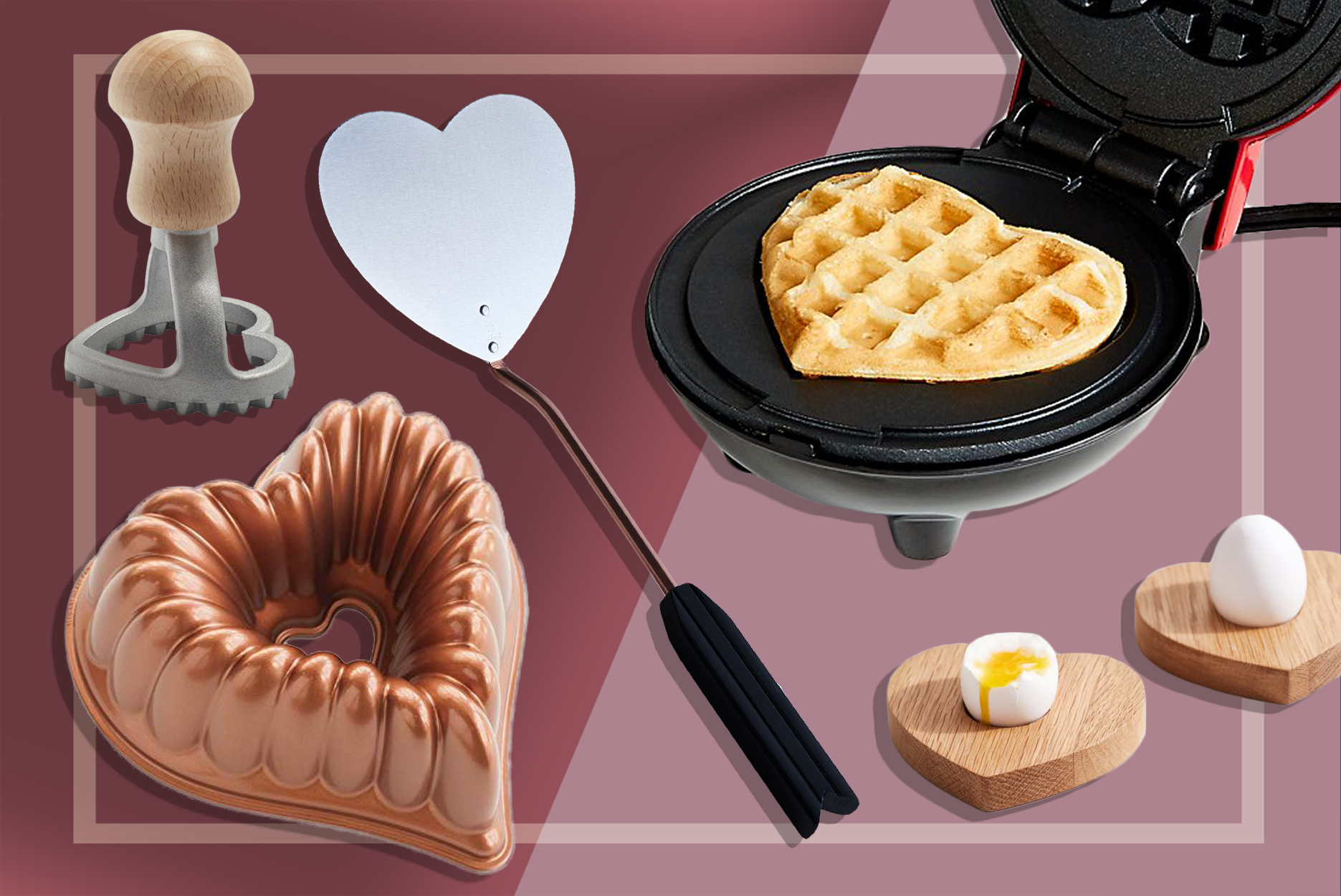 heart-shaped kitchen items