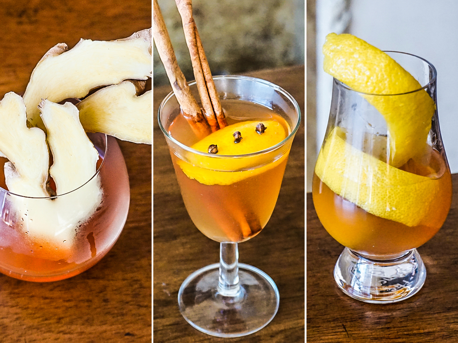 Hot Ginger Cocktails
