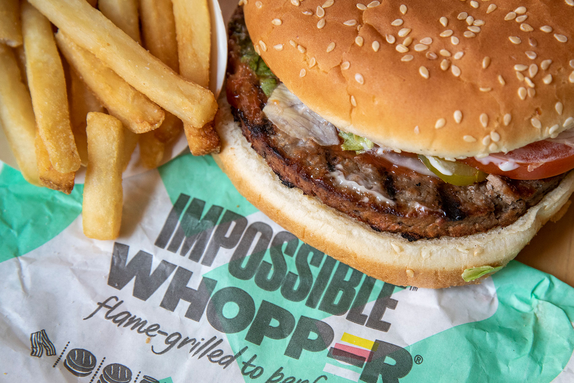 An Impossible Whopper meal