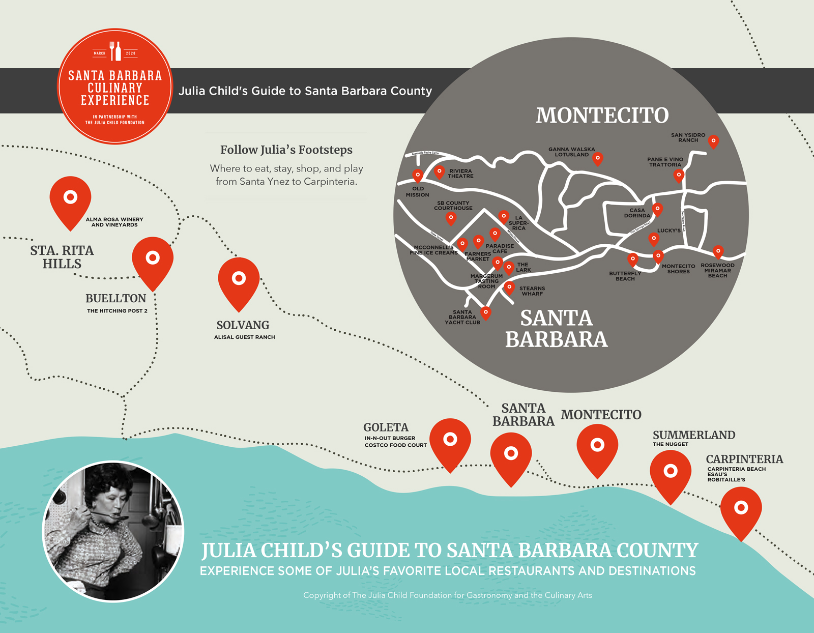 Julia Child Food Trail Map