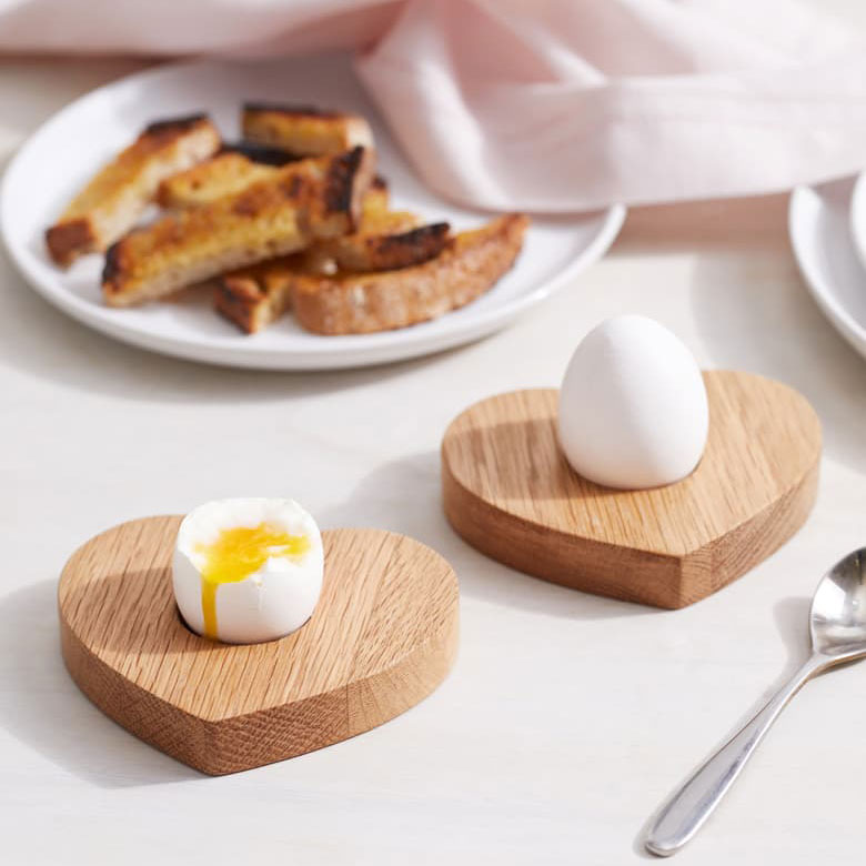 egg and soldiers heart shaped boards