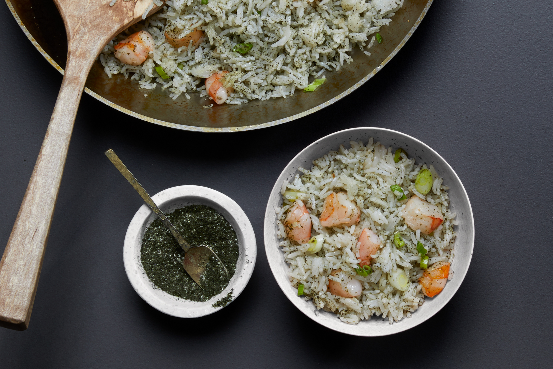 Nori and Shrimp Fried Rice Recipe