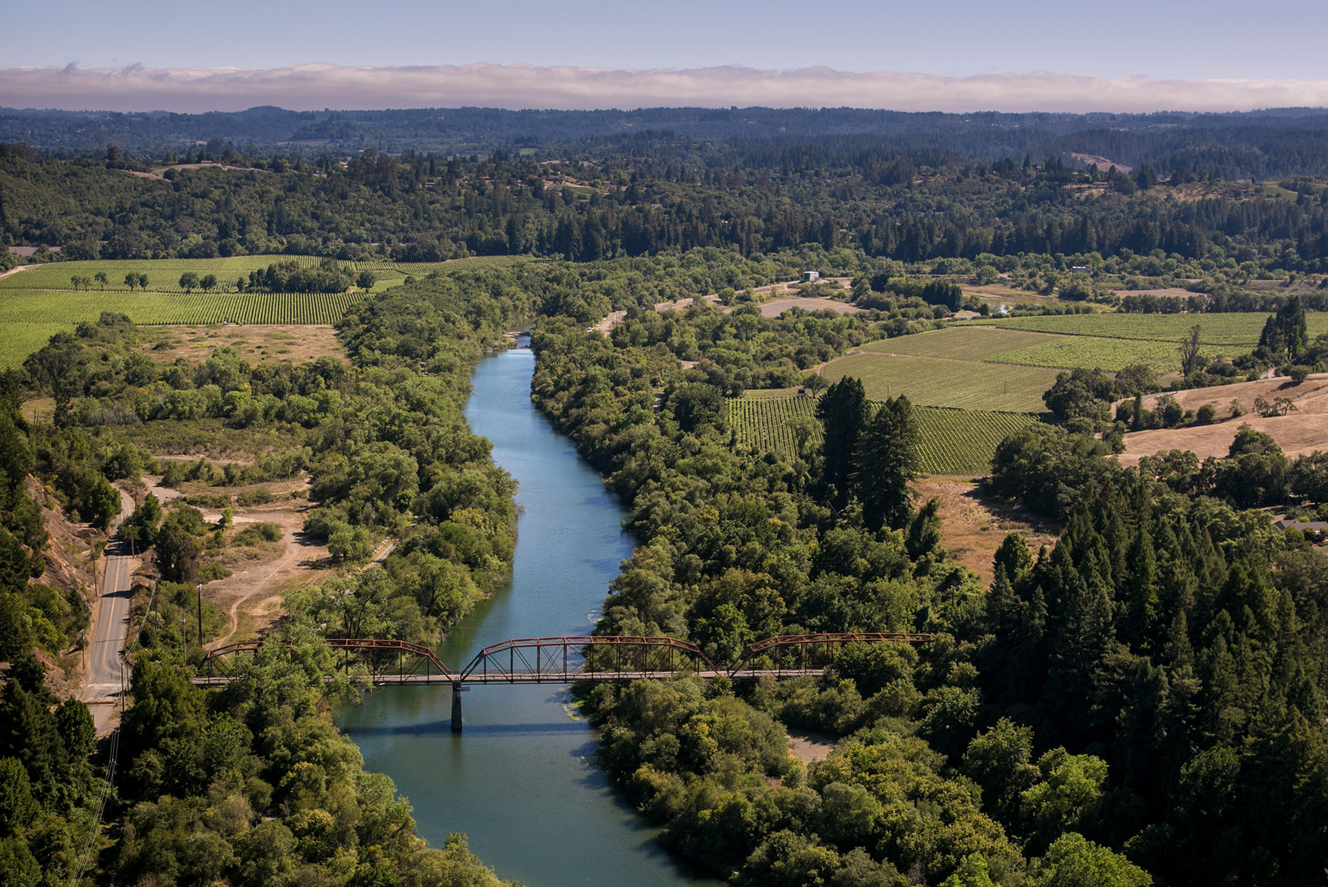 The Russian River in Sonoma county